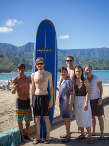 Automatticians in Hanalei Bay, HI. Photo courtesy of Radford Smith (aka Rads)