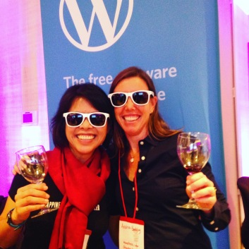 Staffing a booth at a wine industry event
