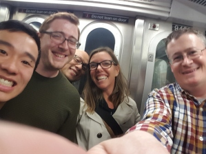 On the NYC Subway at SUPCONF NYC 2016